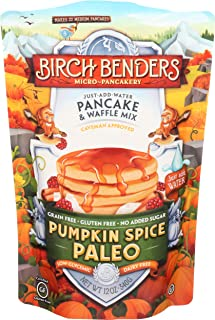 BIRCH BENDERS GRIDDLE CAKES Paleo Pumpkin Spice Pancake & Waffle Mix, 12 OZ