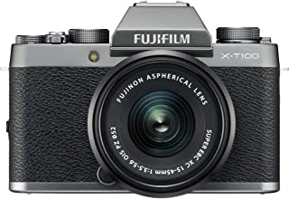Fujifilm X Series X-T100 Dark Silver w/XC15-45mm Entry Mirrorless,Dark Silver