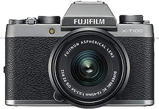 Fujifilm X-T100 Systemkamera inkl. XC15-45mmF3.5-5.6 OIS PZ Objektiv, Dunkelsilber