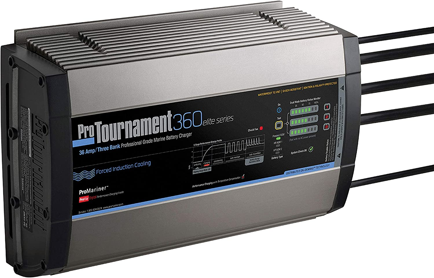 ProMariner Tournament 36 Amp 12 2436V Elite Battery Charger