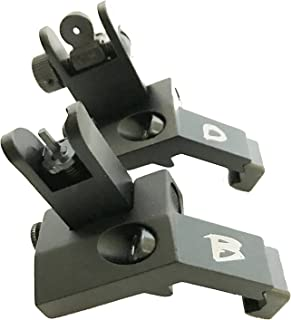 BD Tactical FOLDING 45 Degree Offset Micro Premium Milspec Backup Iron Sight Set A2 BUIS Front and Rear Included