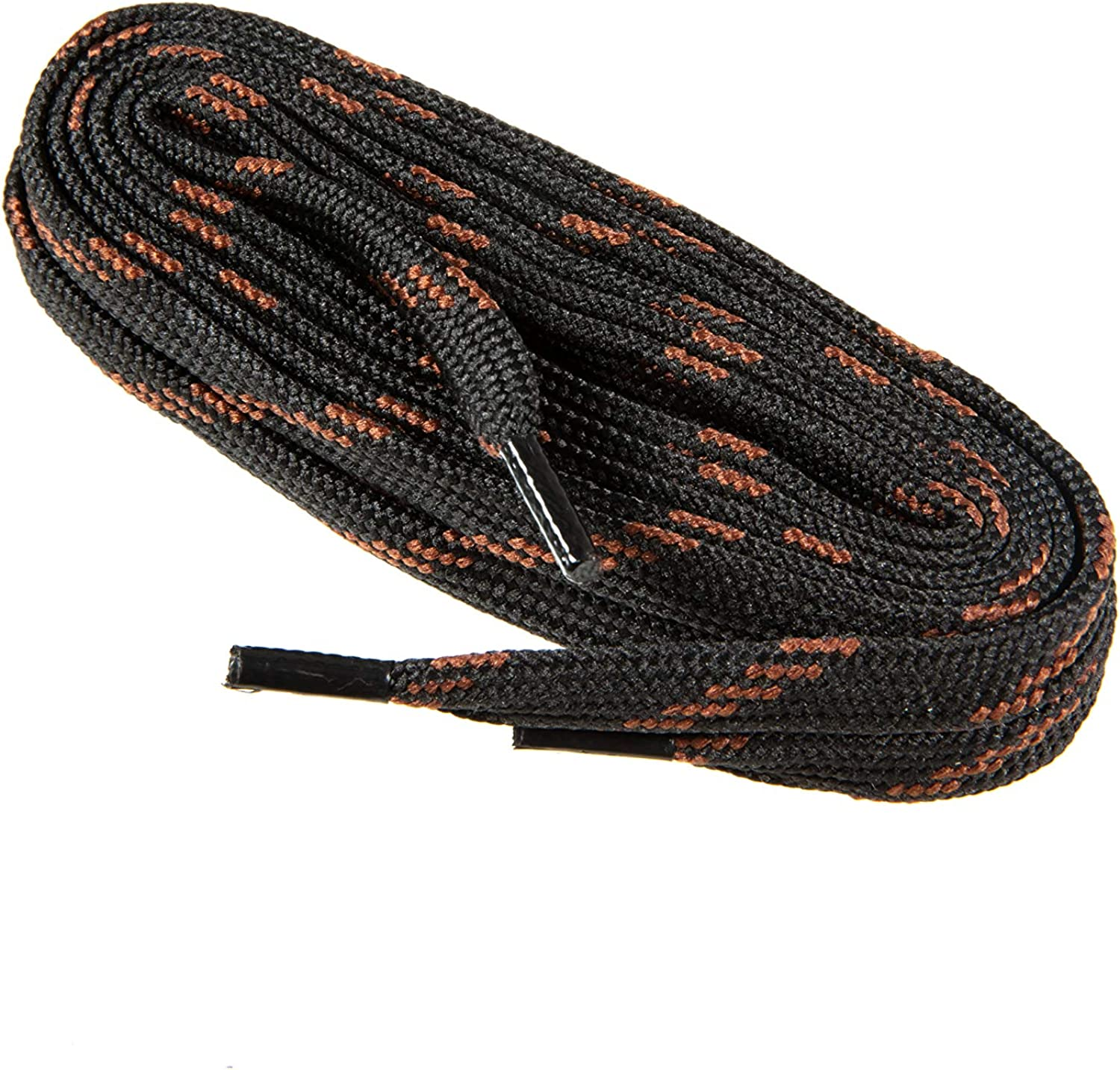 Flat Shoe Laces For Work Boots Shoes wth - half 9 9176 brown black High quality
