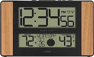 La Crosse Technology Atomic Digital Clock, Pack of 1, Oak