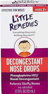 Little Remedies Decongestant Nose Drops | Ages 2+ | 0.5 Fl Oz (Pack of 6)