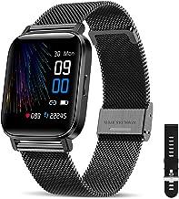 CanMixs Smartwatch, fitnessarmband, horloge, 1,54 inch, volledig touchscreen, fitnesshorloge, IP68 waterdicht, fitnesstrac...