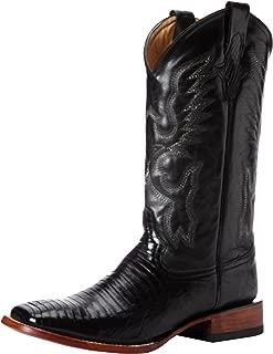 mens square toe lizard boots