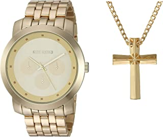 Steve Madden Men's Watch and Necklace Set SMWS062