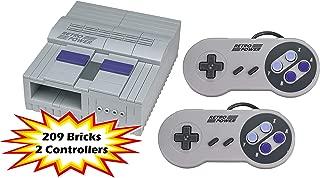 SNES Retro Brick Raspberry Pi 4B, 3B, 3B+, 2B Case (209 Bricks), RetroPie with 2X SNES Controllers