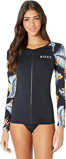Dreaming Day Long Sleeve Zip Rashguard