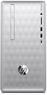 HP Pavilion Desktop Computer, Intel Core i5+8400 Processor, 8GB RAM and 16 GB Intel Optane Memory, 1TB Hard Drive, Windows 10 (Silver), 590-p0050 - 3LA16AA#ABA