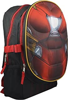 Marvel DC Comics Superheroes Domed Shaped 3D Pop Out Boys 16 School Book Bag (Ironman)
