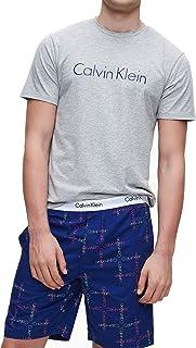 Calvin Klein Men's Short Pyjamas Set, Grey, Large, GKL