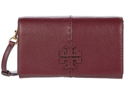 Tory Burch McGraw Wallet Crossbody (Claret) Handbags