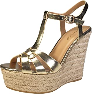 bamboo gold wedges