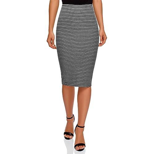 oodji Ultra Mujer Falda Texturizada con Elástico b88293c76653