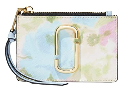 Marc Jacobs Snapshot Watercolor Top Zip Multi Wallet (Pink Multi) Wallet Handbags
