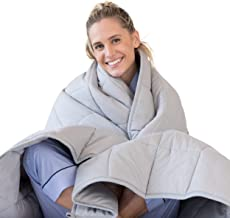 Luna Adult Weighted Blanket - Individual Use - 15 Lbs - 60x80 - Queen Size Bed - 100% Oeko-Tex Cooling Cotton & Glass Bead...