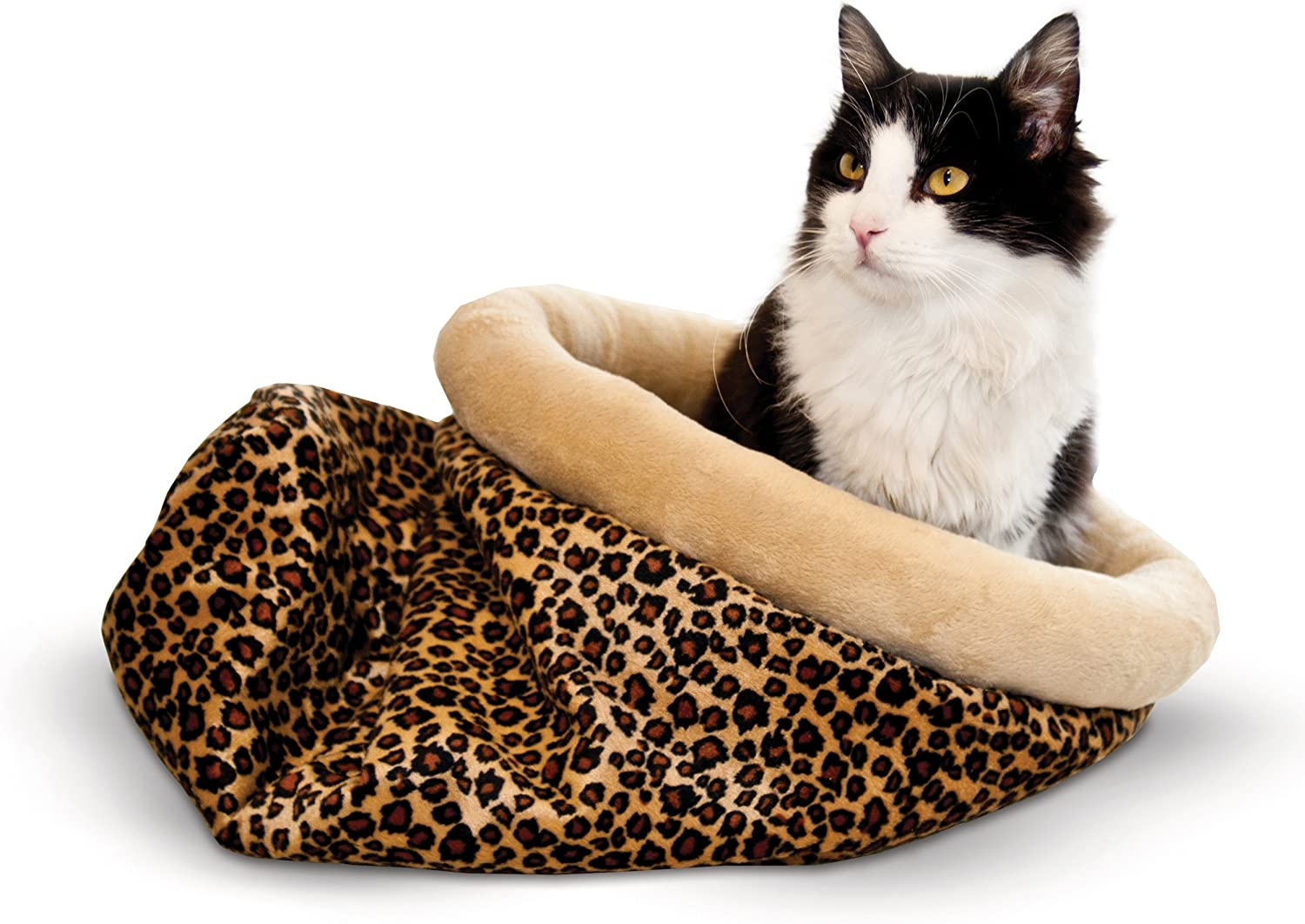 K&H Pet Products SelfWarming Kitty Sack Leopard 15  x 18
