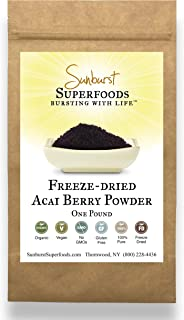 Sunburst Superfoods Organic Acai Berry Powder (Freeze-Dried) (16 Ounce)
