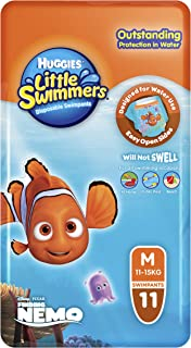 Huggies Little Swimmers Disposable Swimpants, Size: Medium (11-15KG), 11 Pack