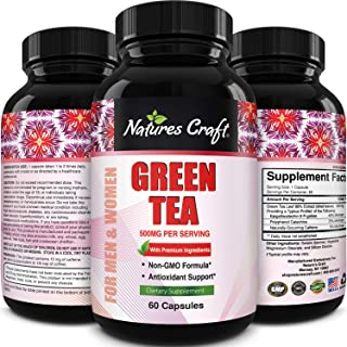 EGCg Green Tea Extract Pills - Best Green Tea for Weight loss and Belly Fat Burner for Women and Men - Natural Energy Boos...