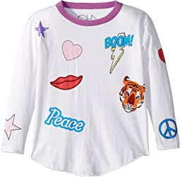 Chaser Kids - Vintage Jersey Flash Boom Kiss Tee (Toddler/Little Kids)