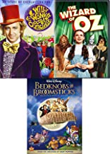 Beds and Wizard & Candy Man Triple Family Musical Adventure Willy Wonka Chocolate Factory + Disney Bedknobs & Broomsticks & Wizard of Oz Classic DVD Family 3 Pack