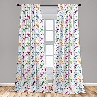 Lunarable Music 2 Panel Curtain Set, Notes on