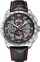 Mens Quartz Chronograph Waterproof Watches Business Sport Genuine Leather Band Wrist Watch PAGANI DESIGN