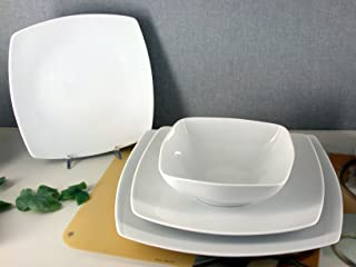 H&H Assiette en Porcelaine Kana Cadre 29 cm Décoration de Table