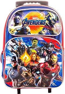 """Avengers EndGame Super Hero 16"""" Rolling Backpack Book Bag Travel Case AV00972"""