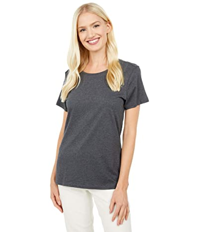 PACT Organic Cotton Midweight Crew Neck Tee (Charcoal Heather) Women