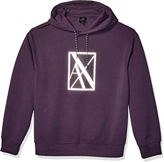 Armani Exchange A|X Men's Pullover Hoodie with Tonal Large AX Box Logo