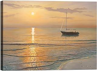 Rahmen Druck auf Leinwand mit Keilrahmen Keilrahmen Keilrahmen Hadrian Galasso Morgens am Meer 120x90 CM B07BTHT2QD  Jugend fbde91