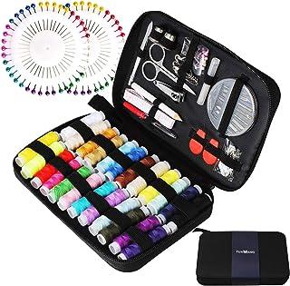 comprar comparacion Tuxwang Kit de costura con 130 piezas Accesorios de costura premium con funda de transporte, 24 carretes de hilo - 1 paque...
