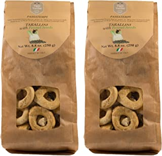 Vigne Vecchie Tarallini with Fennel Seeds 8.8 oz. (2 pack), Fresh Baked Breadsticks [Imported from Italy]