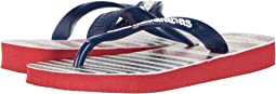 USA Stripe Logo Sandals (Toddler/Little Kid/Big Kid)