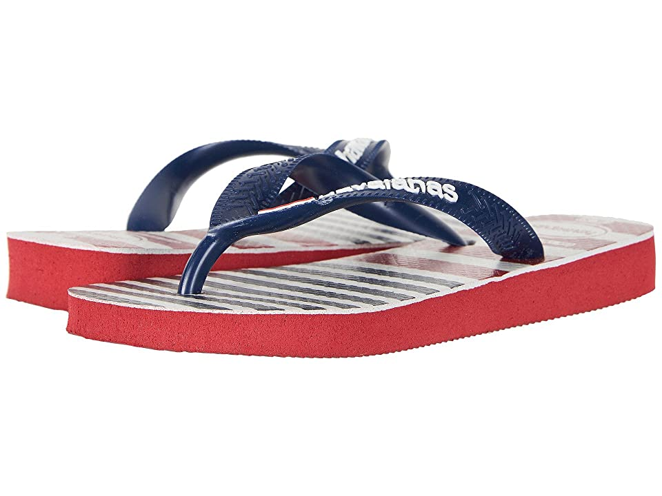 Havaianas Kids USA Stripe Logo Sandals (Toddler/Little Kid/Big Kid) (Red) Kids Shoes