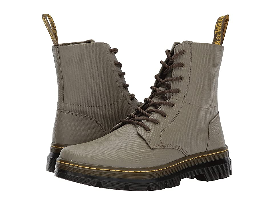 Dr. Martens Combs 8-Eye Boot (Mid Olive Waxy Coated) Lace-up Boots