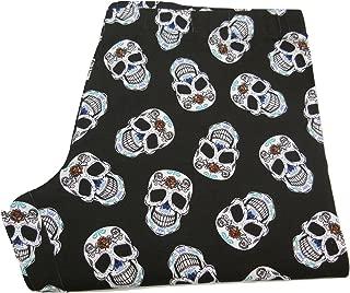 Skull Print Black Ankle Legging