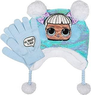 L.O.L. Surprise! The Snuggle is Real! Sparkle, Pom Poms Hat & Gloves Set Blue