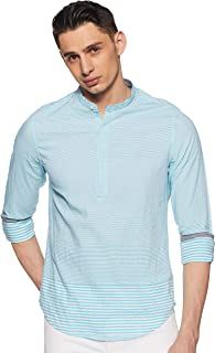 United Colors of Benetton Men's Striped Slim fit Casual Shirt