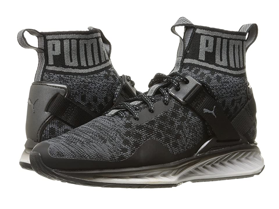 PUMA Ignite evoKNIT Fade (Puma Black/Asphalt/Quiet Shade) Men