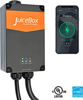 JuiceBox Pro 32 Smart Electric Vehicle (EV) Charging Station with WiFi - 32 amp Level 2 EVSE, 24-Foot Cable, NEMA 14-50 Plug, UL and Energy Star Certified, Indoor/Outdoor Use (Plug-in Installation)