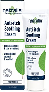 Natralia Anti-Itch Soothing Cream, Oatmeal and Menthol, 3 Ounce