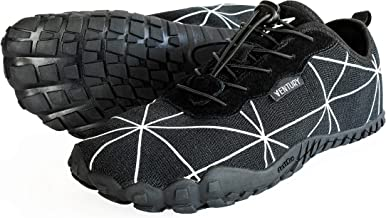 Ventury Zero Trail-Laufschuhe - Minimalistische Barfußschuhe mit viel Zehenfreiheit und Geruchsloser Nullabsatz-Sohle mit Echtem Silber für Damen und Herren