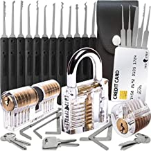 30-Delige Lock Picking Set met 3 Transparante Training Sloten en Credit Card Lock Pick Tool Kit van Lock Cowboy + Handleid...