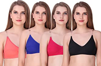 HIYA ( Here is your affinity) Women's Premium Non- Padded Bra (1L-KZCY-XWL3) - Pack of 4 , Multicolour , 28