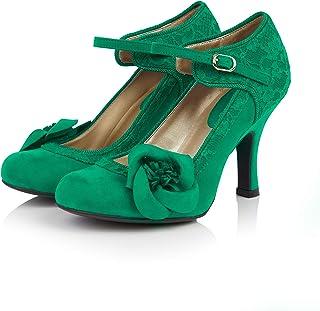 942f63f6f Ruby Shoo Women's Emerald Green Anna Lace Mary Jane Pumps
