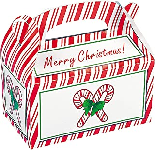 8 ~ Candy Cane Christmas Treat Boxes ~ Cardboard ~ Approx. 6